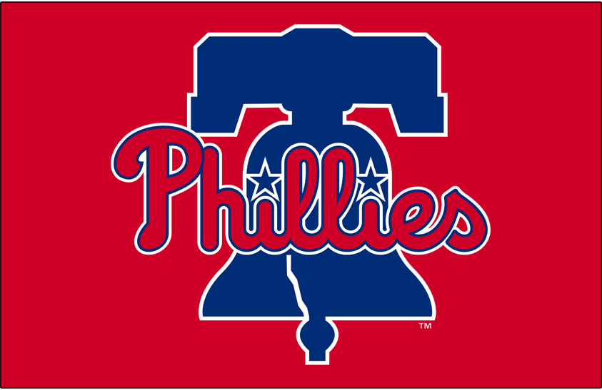Philadelphia Phillies Logo Primary Dark Logo (2020-Pres) - Phillies primary logo on red, this version of the logo only appears when placed on a red background SportsLogos.Net