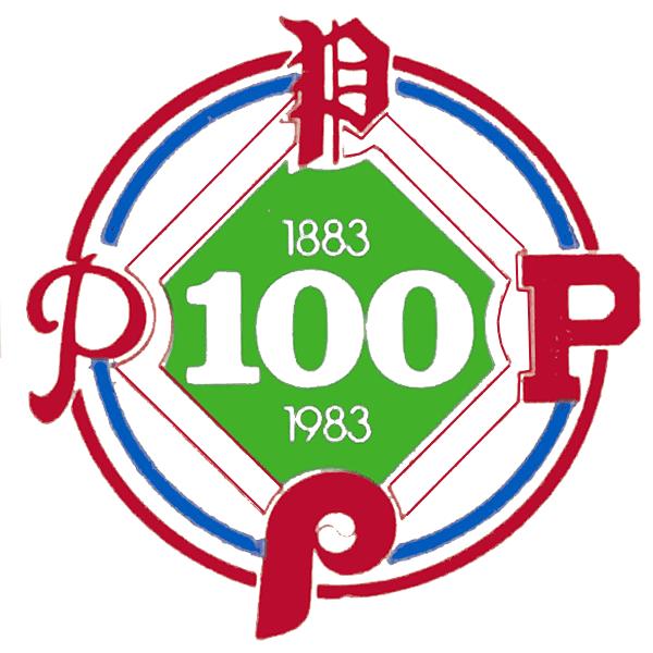 Philadelphia Phillies Logo Anniversary Logo (1983) - 100th Anniversary of the Philadelphia Phillies SportsLogos.Net
