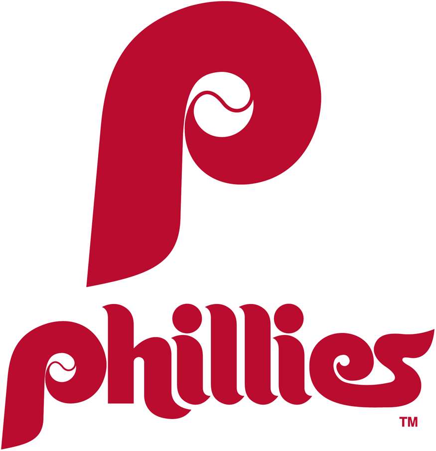Philadelphia Phillies Logo Primary Logo (1970-1975) - Red P with Phillies below SportsLogos.Net