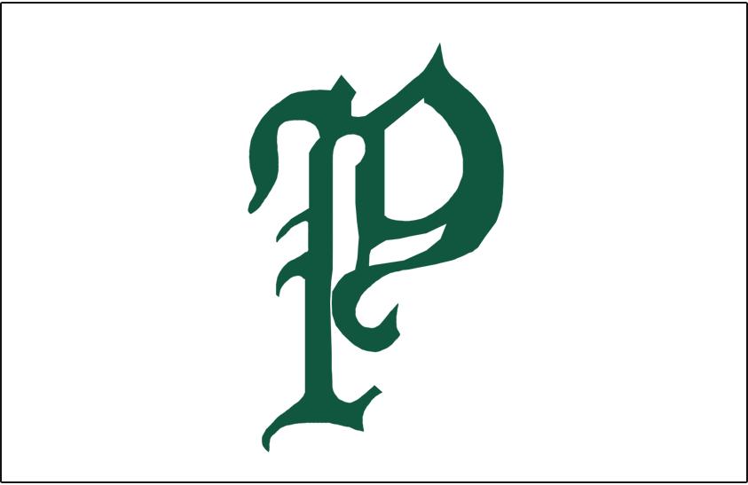 Philadelphia Phillies Logo Jersey Logo (1910) - A green olde-english style P on a white background, worn on front of Philadelphia Phillies home jerseys during the 1910 season SportsLogos.Net
