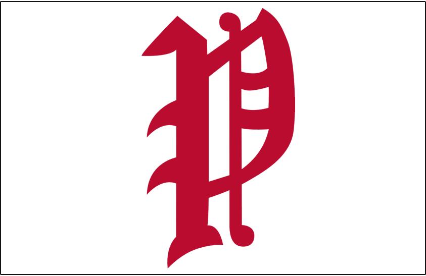 Philadelphia Phillies Logo Cap Logo (1925-1932) - A red olde-english style P on white, worn on Phillies home cap from 1925-32 SportsLogos.Net