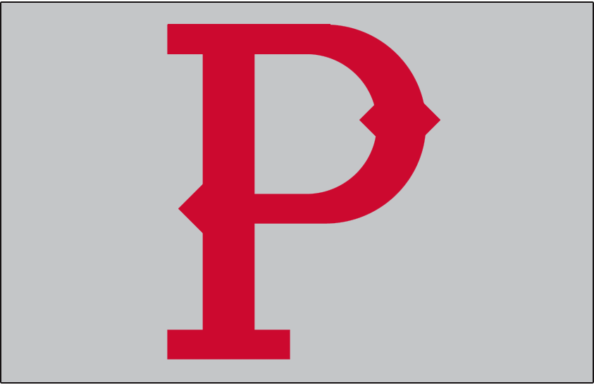 Pittsburgh Pirates Logo Jersey Logo (1907) - A red 'P' on grey, worn on the front pocket of the Pittsburgh Pirates road jersey in 1907 SportsLogos.Net