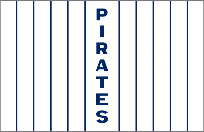 Pittsburgh Pirates Logo Jersey Logo (1912) - PIRATES written vertically down the middle of the white pinstriped jersey, worn on Pirates home jersey in 1912 only SportsLogos.Net