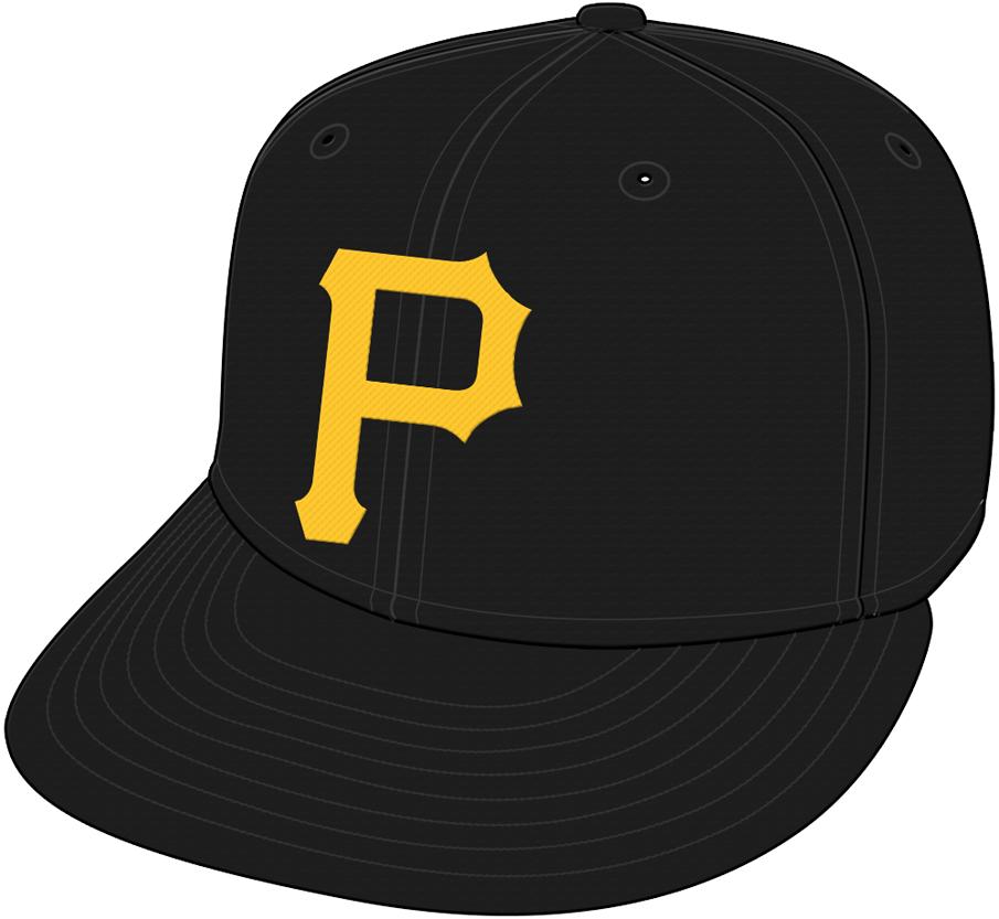 Pittsburgh Pirates Cap Cap (1987-Pres) - A gold P on a black cap SportsLogos.Net