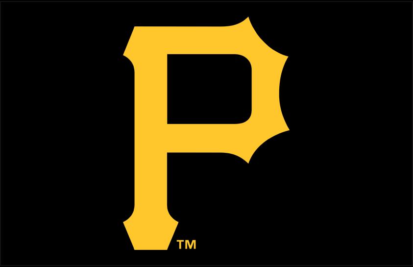 Pittsburgh Pirates Logo Primary Dark Logo (2014-Pres) - Gold P on black SportsLogos.Net