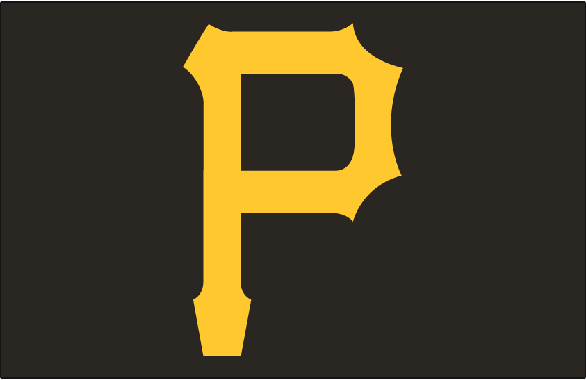 Pittsburgh Pirates Logo Cap Logo (1948-1970) - Yellow P on a black cap, worn by Pittsburgh Pirates for both home and road games from 1948 through 1970 SportsLogos.Net