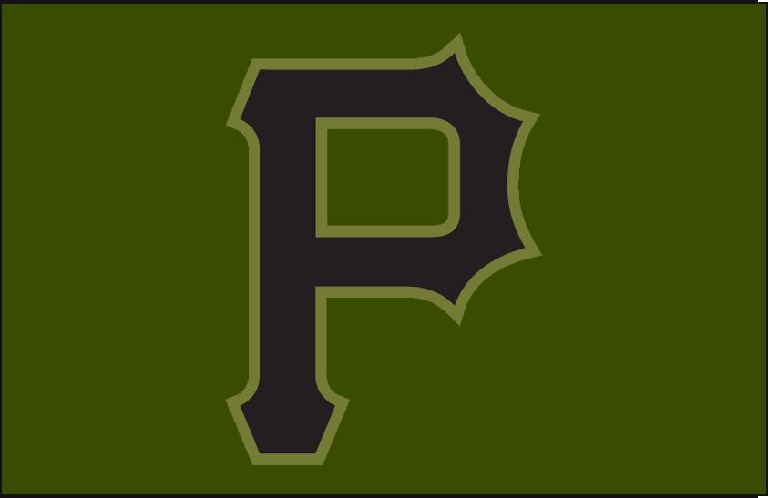 Pittsburgh Pirates Logo Cap Logo (2018) - Alternate cap logo, camouflage style cap, worn only during the 2018 season SportsLogos.Net