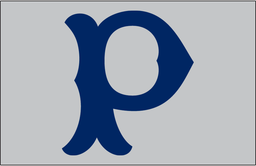 Pittsburgh Pirates Logo Cap Logo (1907) - Blue P on a grey cap, worn on road by Pittsburgh Pirates in 1907 SportsLogos.Net