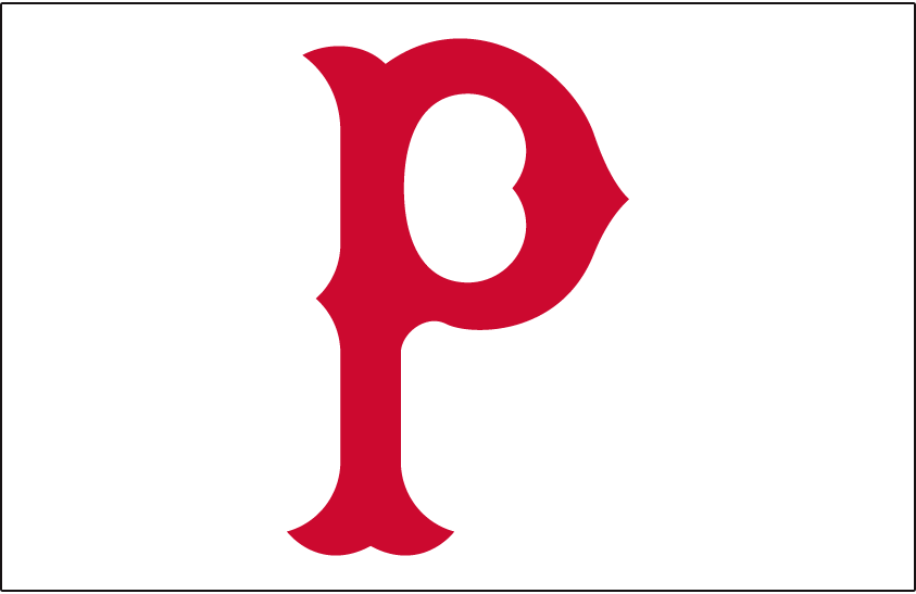 Pittsburgh Pirates Logo Jersey Logo (1915-1919) - A red P on white, worn on Pirates home jersey from 1915 through 1919 SportsLogos.Net