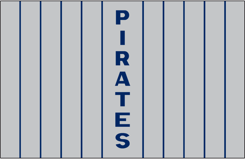 Pittsburgh Pirates Logo Jersey Logo (1912) - PIRATES written vertically down the middle of the grey pinstriped jersey, worn on Pirates road jersey in 1912 only SportsLogos.Net