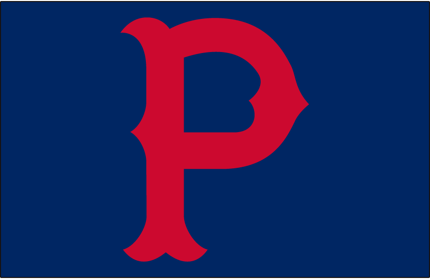 Pittsburgh Pirates Logo Cap Logo (1923-1939) - Red P on a blue cap, worn by Pittsburgh Pirates full-time from 1923 through 1939 SportsLogos.Net