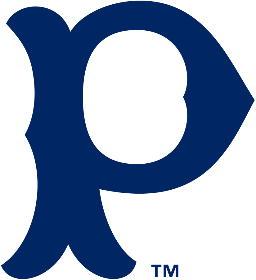 Pittsburgh Pirates Logo Primary Logo (1900-1907) - A navy blue P SportsLogos.Net