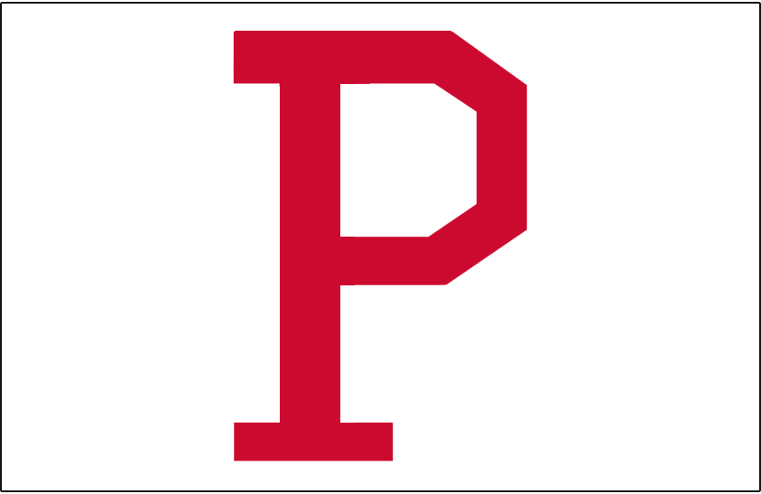 Pittsburgh Pirates Logo Jersey Logo (1920) - A red P on white, worn on the front pocket of the Pirates home jersey in 1920 SportsLogos.Net