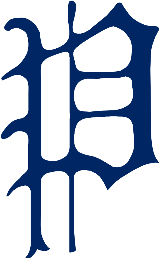 Pittsburgh Pirates Logo Primary Logo (1922) - A calligraphic blue 'P' SportsLogos.Net