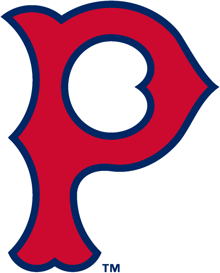 Pittsburgh Pirates Logo Primary Logo (1923-1933) - A red 'P' with blue trim SportsLogos.Net