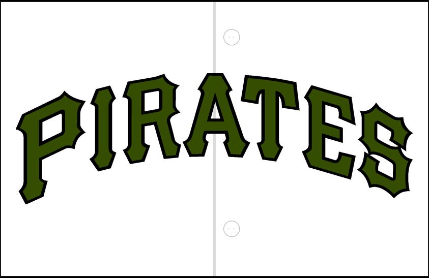 Pittsburgh Pirates Logo Jersey Logo (2018-Pres) - Alternate Jersey logo, camouflage style jersey SportsLogos.Net