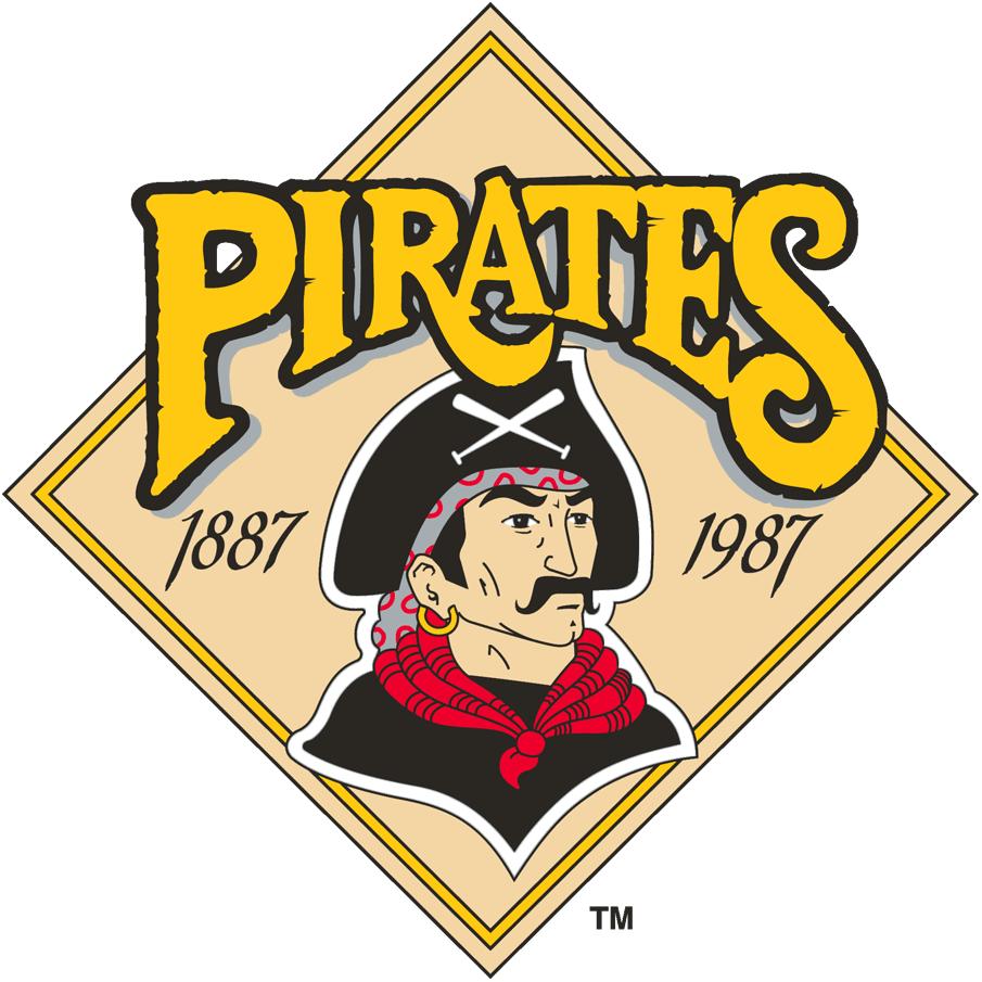 Pittsburgh Pirates Logo Anniversary Logo (1987) - 100th Anniversary of the Pittsburgh Pirates SportsLogos.Net
