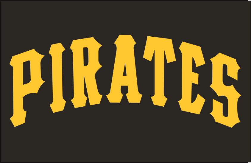 Pittsburgh Pirates Logo Jersey Logo (1977-1984) - Pirates in gold on black SportsLogos.Net