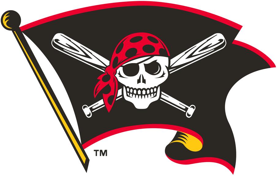 Pittsburgh Pirates Logo Alternate Logo (1997-2010) - Skull and cross bats on black flag  SportsLogos.Net
