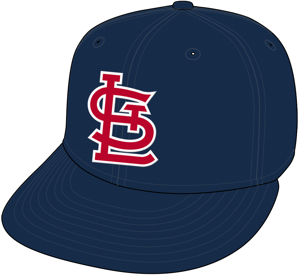 St. Louis Cardinals Cap Cap (1992-2019) - STL in red with white trim on all blue cap, worn as Cardinals road cap from 1992-2012, worn as a road alternate road cap from 2013-2019 SportsLogos.Net