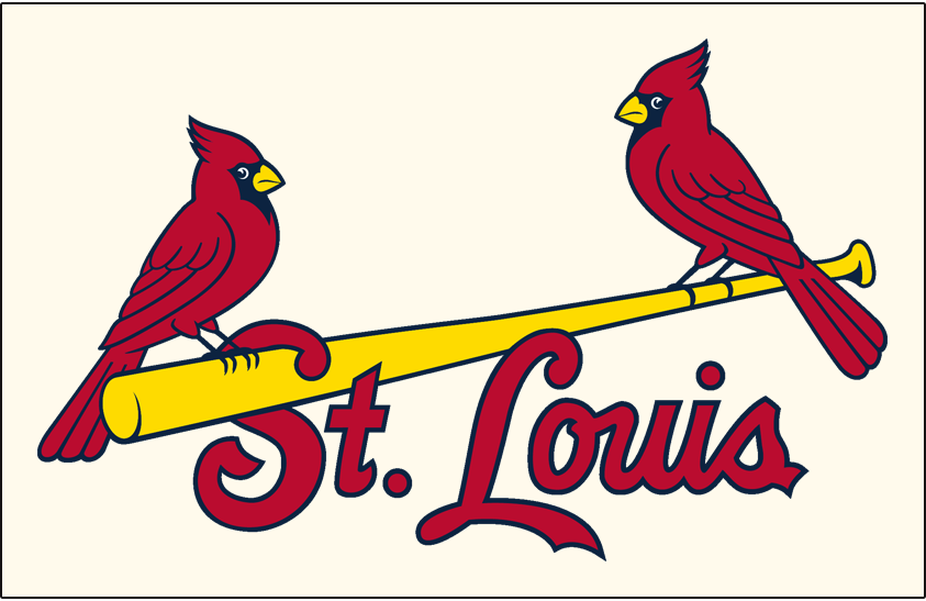St. Louis Cardinals Jersey Logo (2013) - St Louis in red and blue