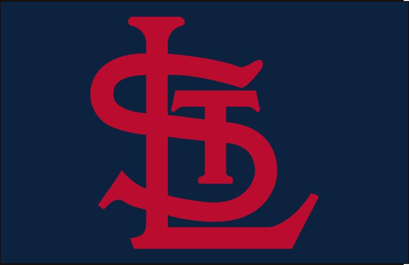 St. Louis Cardinals Logo Cap Logo (1940-1955) - Red STL on blue SportsLogos.Net