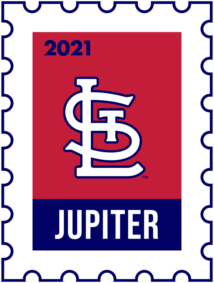 St. Louis Cardinals Logo Event Logo (2021) - The St Louis Cardinals 2021 Spring Training logo, the design follows a league-wide style using a postage stamp in team colours with the team logo in the middle. SportsLogos.Net