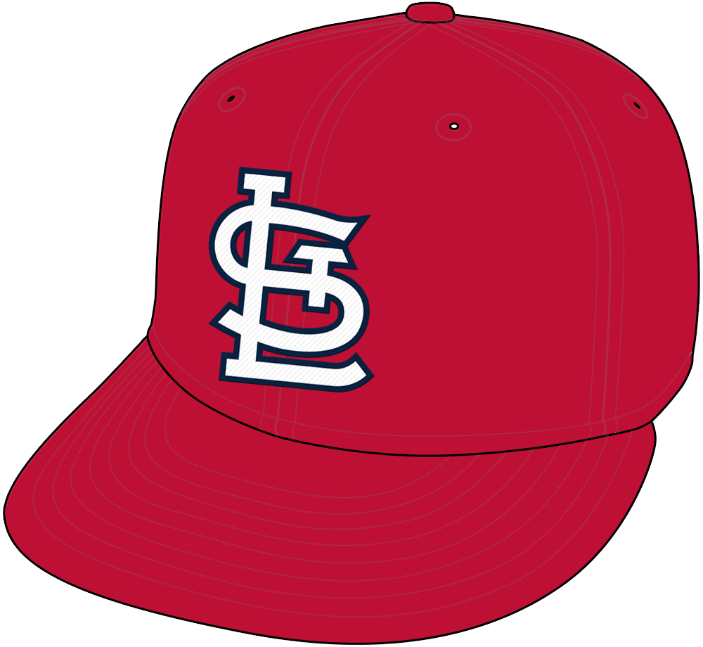St. Louis Cardinals Cap Cap (1964-2019) - STL in white with blue trim on all red cap, worn as the primary Cardinals cap from 1964-1991 and again from 2013-2019. From 1992-2012 it was worn for home games only. SportsLogos.Net