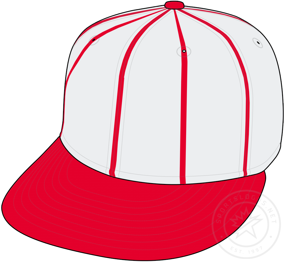 St. Louis Cardinals Cap Cap (1939) - White crown with red pinstripes, a red visor, and red pill. Worn for St Louis Cardinals home games in 1939 SportsLogos.Net