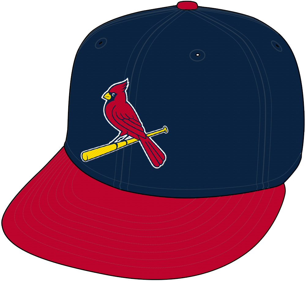 St. Louis Cardinals Cap Cap (1999-Pres) - St Louis Cardinals Sunday home alternate cap, navy blue crown with red visor and cardinal logo  SportsLogos.Net