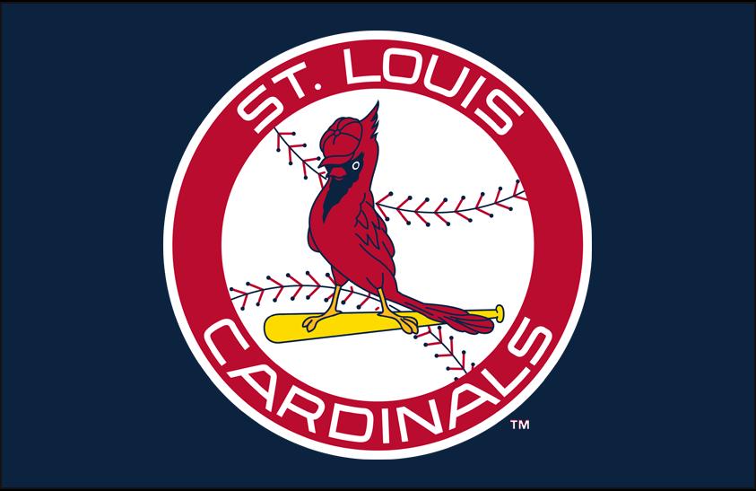 St. Louis Cardinals Logo Primary Dark Logo (1966-1997) - Cardinals primary logo on blue SportsLogos.Net