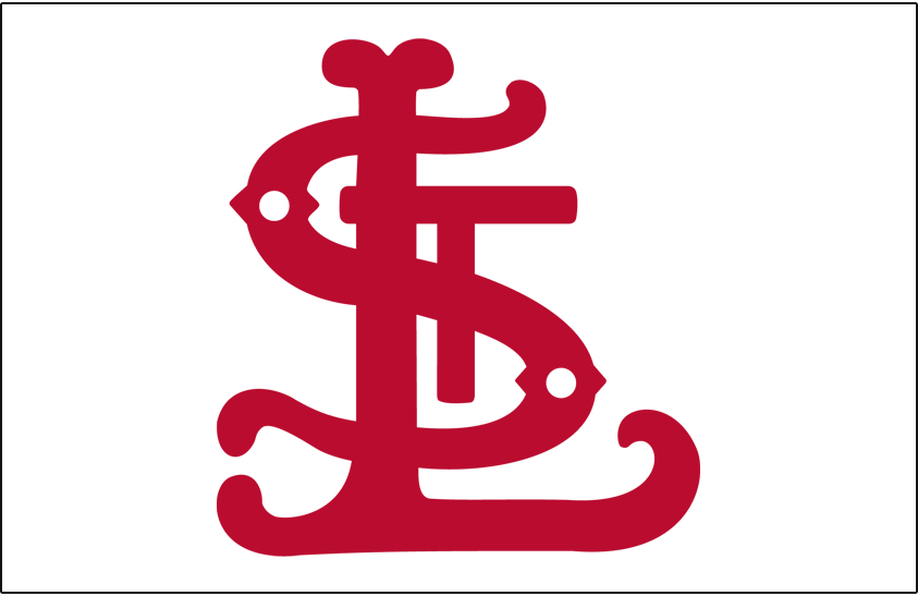 St. Louis Cardinals Logo Cap Logo (1903) - Red STL on white, worn at home only in 1903 SportsLogos.Net