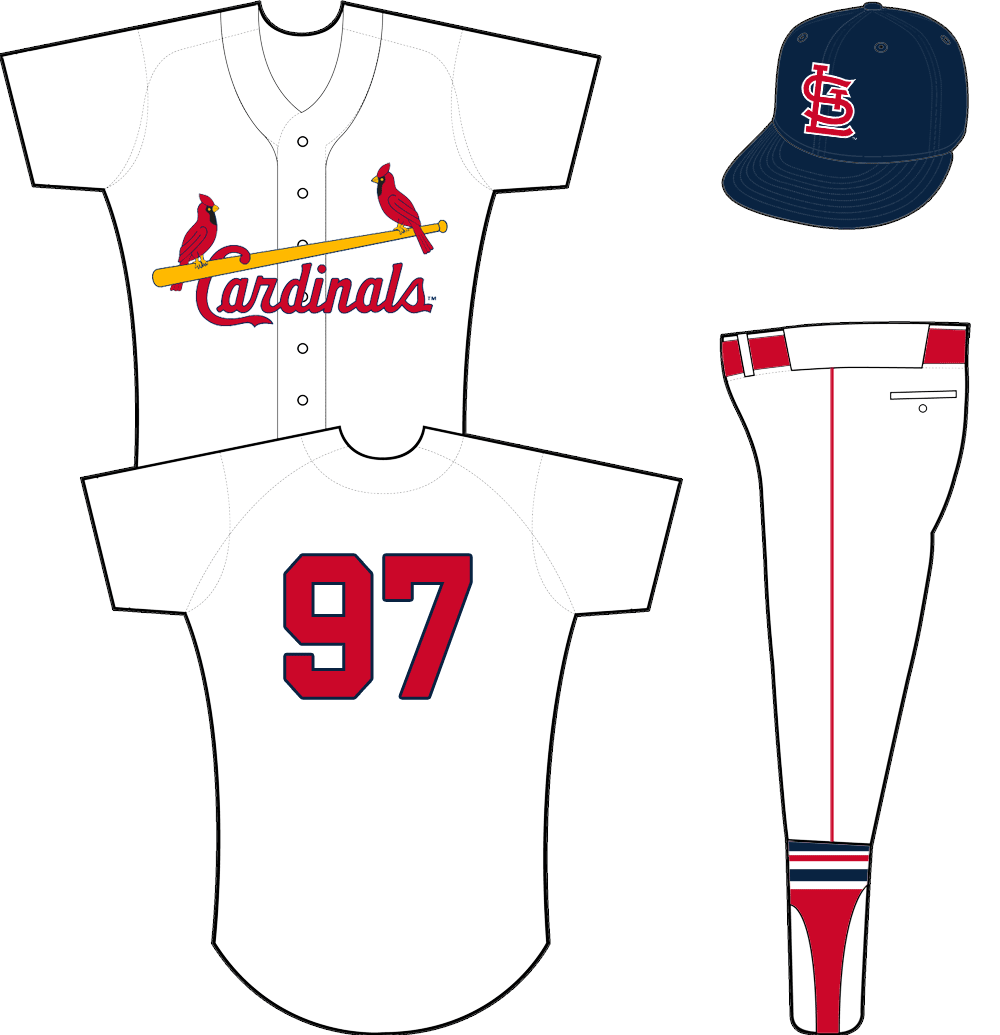 St. Louis Cardinals Uniform Home Uniform (1957-1963) - Cardinals