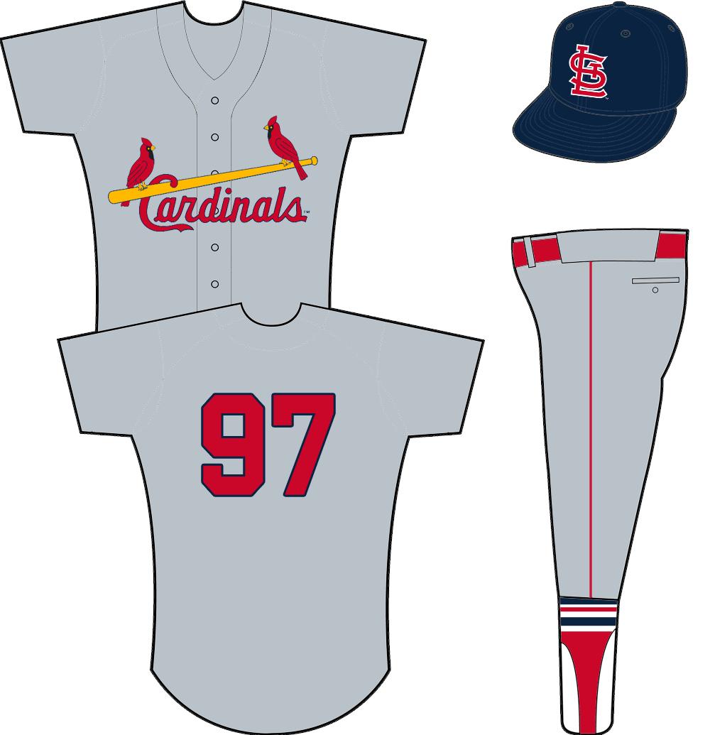 St. Louis Cardinals Uniform Road Uniform (1957-1964) - Cardinals