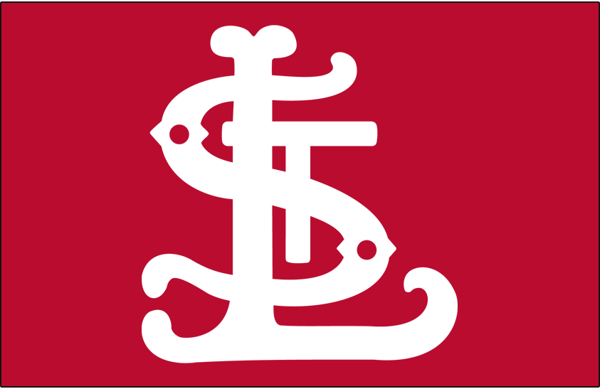 St. Louis Cardinals Logo Cap Logo (1900-1908) - White STL on red SportsLogos.Net