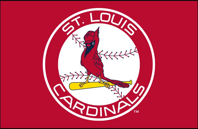 St. Louis Cardinals Logo Primary Dark Logo (1966-1997) - Cardinals primary logo on red SportsLogos.Net