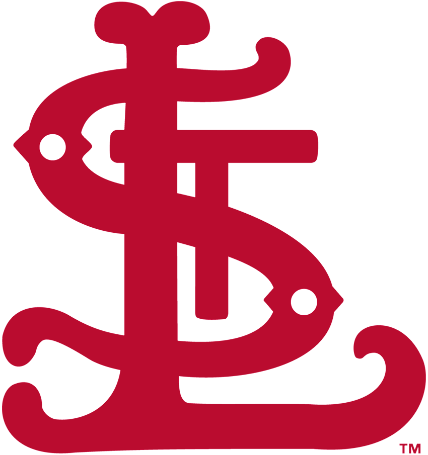 St. Louis Cardinals Logo Primary Logo (1900-1919) - Fancy red interlocking STL SportsLogos.Net