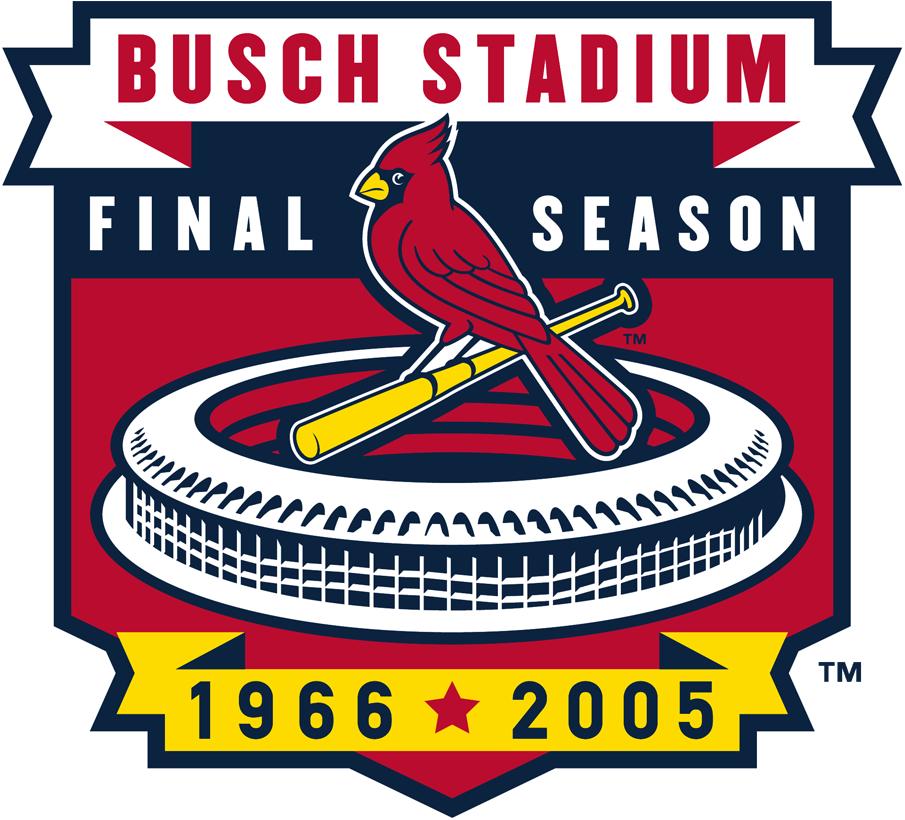 St. Louis Cardinals Logo Stadium Logo (2005) - Final Season of Busch Stadium 1966-2005 SportsLogos.Net