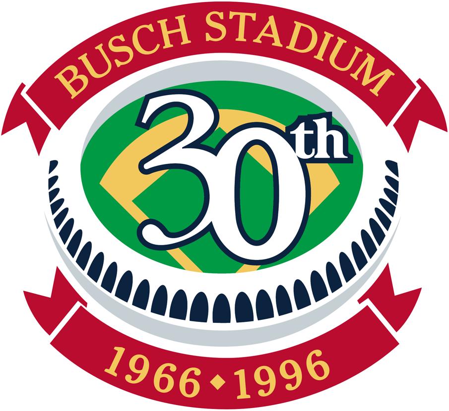 St. Louis Cardinals Logo Stadium Logo (1996) - 30th Anniversary of Busch Stadium SportsLogos.Net