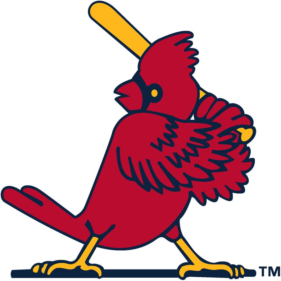 St. Louis Cardinals Logo Alternate Logo (1956-1997) - A cardinal in a batting stance SportsLogos.Net