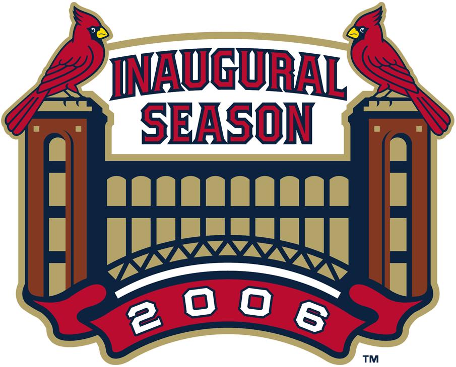 St. Louis Cardinals Logo Stadium Logo (2006) - Inaugural Season at Busch Stadium III SportsLogos.Net