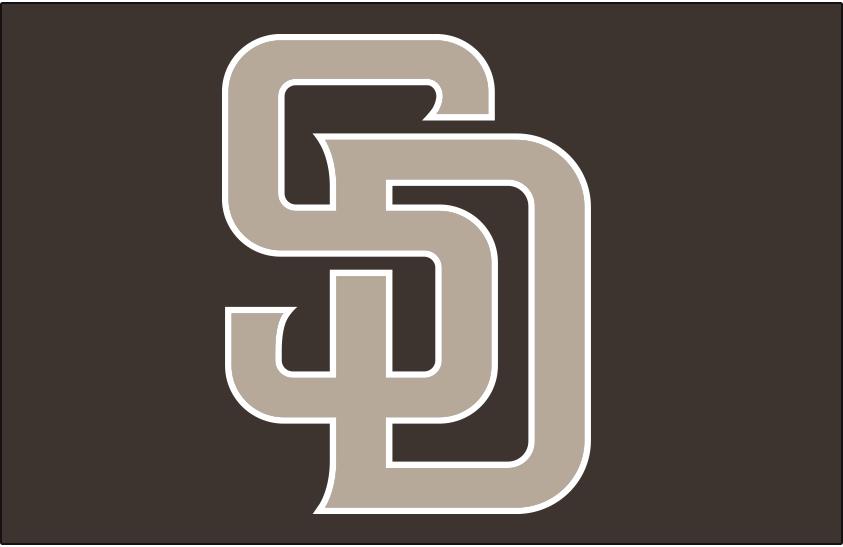 San Diego Padres Logo Cap Logo (2020-Pres) - Interlocked SD in sand on a brown background, worn with San Diego Padres alternate camouflage uniform beginning in 2020 season SportsLogos.Net