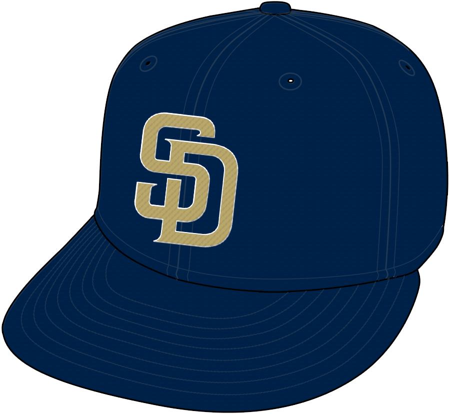 San Diego Padres Cap Cap (2004-2011) - Road Cap SportsLogos.Net