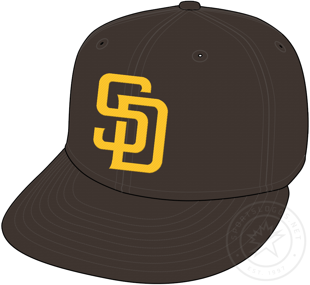 San Diego Padres Cap Cap (2020-Pres) - Brown cap with gold SD on front, worn as primary Padres cap for both home and road games starting in 2020 season SportsLogos.Net