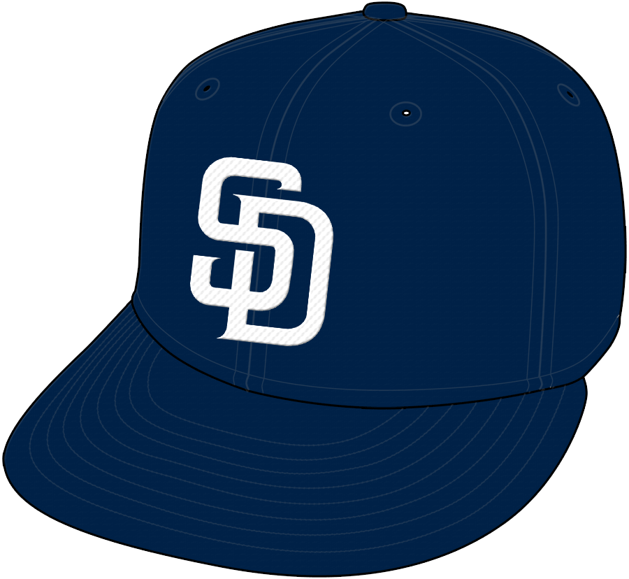 San Diego Padres Cap Cap (2004-2019) - Home Only 2004-11 SportsLogos.Net