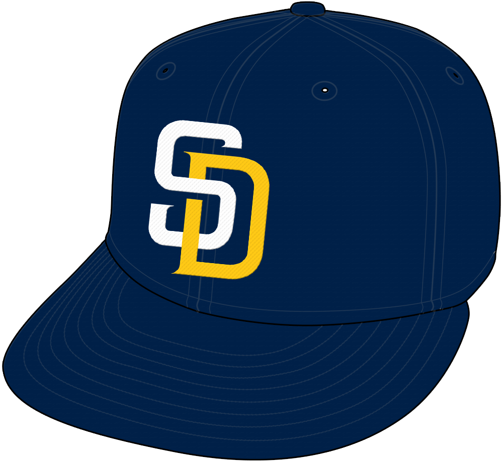 San Diego Padres Cap Cap (2016) - San Diego Padres home cap worn during 2016 season only, white and gold SD logo SportsLogos.Net