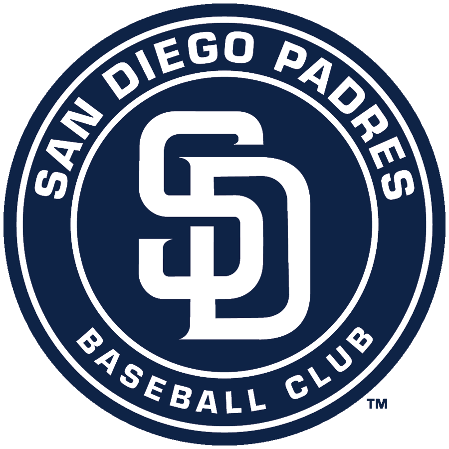 San Diego Padres Logo Alternate Logo (2015-2019) - A white SD inside a navy blue circle, previously the primary logo (2012-14) SportsLogos.Net