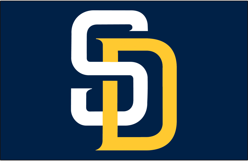 San Diego Padres Logo Cap Logo (2016) - SD in blue and yellow on a blue cap, worn on Padres home caps starting in 2016 SportsLogos.Net