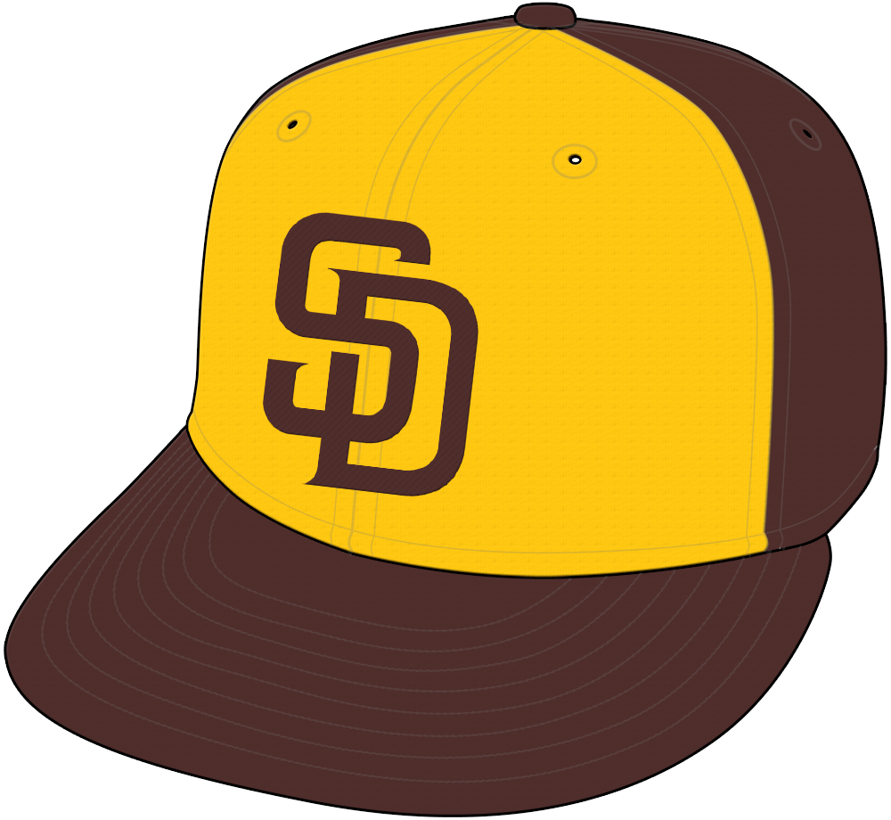 San Diego Padres Cap Cap (2016-2019) - San Diego Padres Friday home alternate retro brown and gold cap SportsLogos.Net