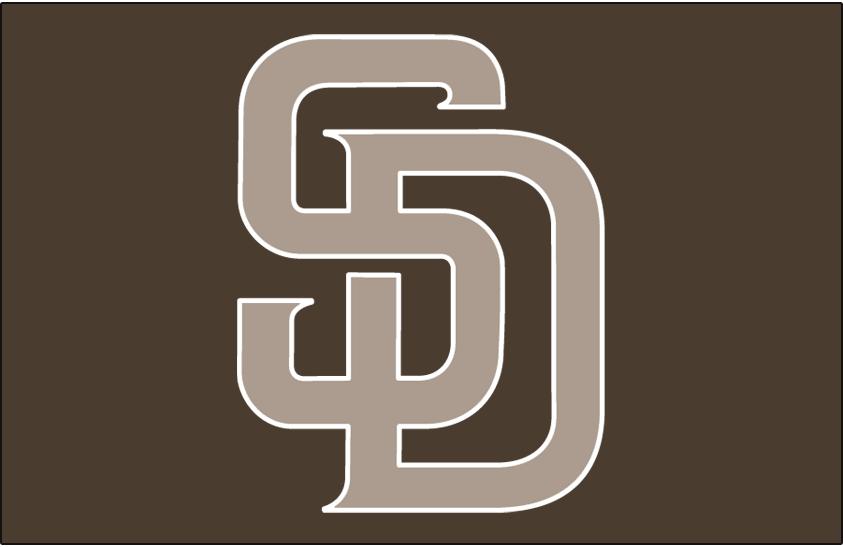 San Diego Padres Logo Cap Logo (2011-2019) - (Alt) Interlocking SD in beige with a white outline on camouflage brown SportsLogos.Net